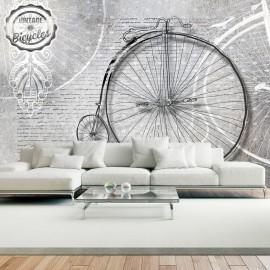 Papier peint - Vintage bicycles - black and white
