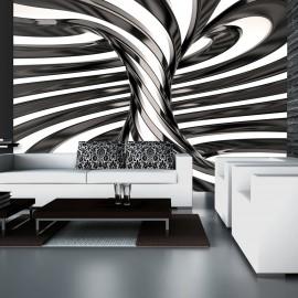 Papier peint - Black and white swirl