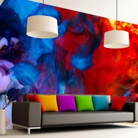 Papier peint -  Colored flames