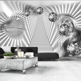 Papier peint - Escalier en argent