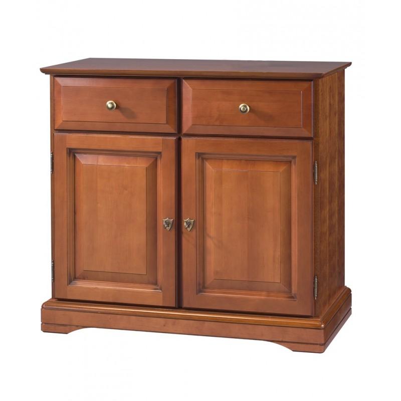 buffet bas 2 portes 2 tiroirs louis philippe merisier. Black Bedroom Furniture Sets. Home Design Ideas