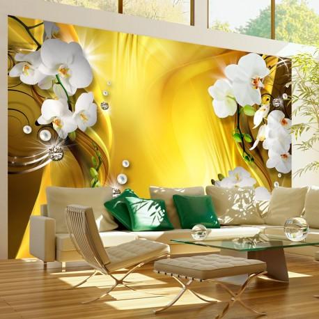 Papier peint  Orchid in Gold