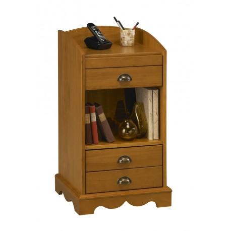 Meuble d'entrée / meuble téléphone 3 tiroirs pin miel style anglais 38004