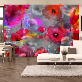 Papier peint - Painted Poppies