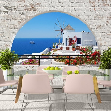 Papier peint  Summer in Santorini