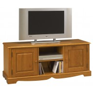 Meuble TV Hifi 2 portes pin miel style anglais 38002