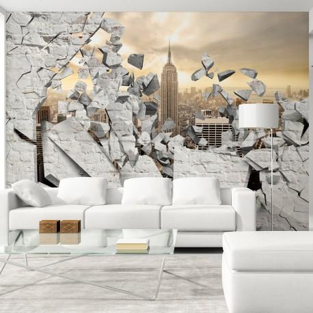 Papier peint  NY  City behind the Wall