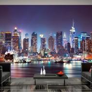 Papier peint  Night in New York City
